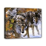 Wolf Family Love Animal Canvas 10  x 8  (Stretched)