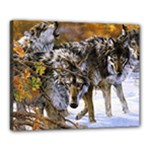 Wolf Family Love Animal Canvas 20  x 16  (Stretched)