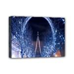 London Eye And  Ferris Wheel Christmas Mini Canvas 7  x 5  (Stretched)