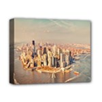 New York Manhattan Deluxe Canvas 14  x 11  (Stretched)