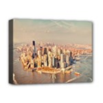 New York Manhattan Deluxe Canvas 16  x 12  (Stretched)