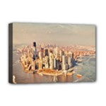 New York Manhattan Deluxe Canvas 18  x 12  (Stretched)