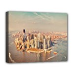 New York Manhattan Deluxe Canvas 20  x 16  (Stretched)