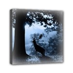 Animal Deer In Forest Mini Canvas 6  x 6  (Stretched)