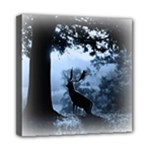 Animal Deer In Forest Mini Canvas 8  x 8  (Stretched)