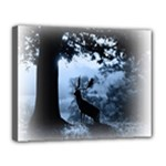 Animal Deer In Forest Canvas 14  x 11  (Stretched)