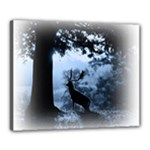 Animal Deer In Forest Canvas 20  x 16  (Stretched)
