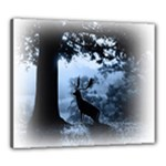 Animal Deer In Forest Canvas 24  x 20  (Stretched)
