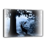 Animal Deer In Forest Canvas 18  x 12  (Stretched)
