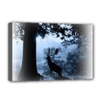 Animal Deer In Forest Deluxe Canvas 18  x 12  (Stretched)