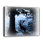 Animal Deer In Forest Deluxe Canvas 20  x 16  (Stretched)