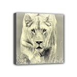 Animal Lion Hunting For Love Mini Canvas 4  x 4  (Stretched)