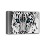 Animal Leopard In Snow Mini Canvas 6  x 4  (Stretched)