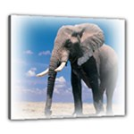 Animals Elephants Lonely But Strong Canvas 24  x 20  (Stretched)