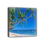 Beach Palm Trees Stretching Out For Love Mini Canvas 4  x 4  (Stretched)