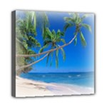 Beach Palm Trees Stretching Out For Love Mini Canvas 8  x 8  (Stretched)