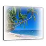 Beach Palm Trees Stretching Out For Love Canvas 20  x 16  (Stretched)