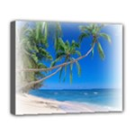 Beach Palm Trees Stretching Out For Love Deluxe Canvas 20  x 16  (Stretched)