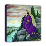 Jesus Overlooking Jerusalem - Ave Hurley - Mini Canvas 8  x 8  (Stretched)