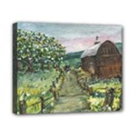 Amish Apple Blossoms -AveHurley ArtRevu.com- Canvas 10  x 8  (Stretched)
