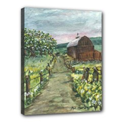 Amish Apple Blossoms - Ave Hurley - Canvas 14  x 11  (Stretched)