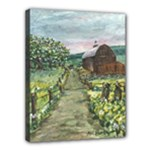 Amish Apple Blossoms -AveHurley ArtRevu.com- Canvas 14  x 11  (Stretched)