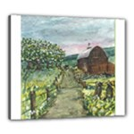 Amish Apple Blossoms -AveHurley ArtRevu.com- Canvas 24  x 20  (Stretched)
