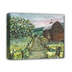 Amish Apple Blossoms -AveHurley ArtRevu.com- Deluxe Canvas 14  x 11  (Stretched)