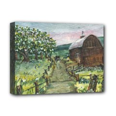 Amish Apple Blossoms - Ave Hurley - Deluxe Canvas 16 x 12 (Stretched)