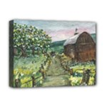 Amish Apple Blossoms -AveHurley ArtRevu.com- Deluxe Canvas 16  x 12  (Stretched)