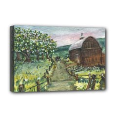 Amish Apple Blossoms - Ave Hurley - Deluxe Canvas 18 x 12 (Stretched)