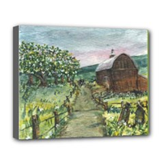 Amish Apple Blossoms - Ave Hurley - Deluxe Canvas 20 x 16 (Stretched)