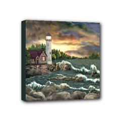 David s Lighthouse - Ave Hurley -  Mini Canvas 4  x 4  (Stretched)