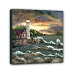David s Lighthouse -AveHurley ArtRevu.com- Mini Canvas 6  x 6  (Stretched)