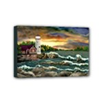 David s Lighthouse -AveHurley ArtRevu.com- Mini Canvas 6  x 4  (Stretched)