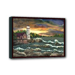 David s Lighthouse - Ave Hurley Mini Canvas 7  x 5  (Stretched)