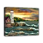 David s Lighthouse -AveHurley ArtRevu.com- Canvas 10  x 8  (Stretched)