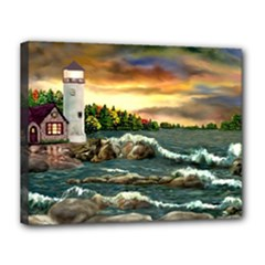 Davids Lighthouse By Ave Hurley   Canvas 14  x 11  (Stretched)