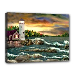 Davids Lighthouse By Ave Hurley   Canvas 16  x 12  (Stretched)