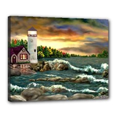 Davids Lighthouse By Ave Hurley   Canvas 20  x 16  (Stretched)