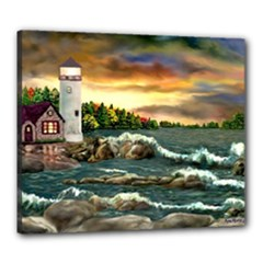 Davids Lighthouse By Ave Hurley   Canvas 24  x 20  (Stretched)
