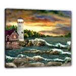 David s Lighthouse -AveHurley ArtRevu.com- Canvas 24  x 20  (Stretched)