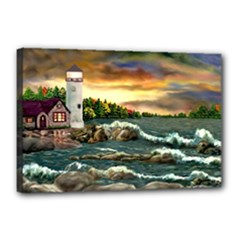 Davids Lighthouse By Ave Hurley   Canvas 18  x 12  (Stretched)