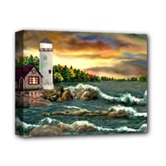 Davids Lighthouse By Ave Hurley   Deluxe Canvas 14  x 11  (Stretched)