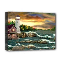 Davids Lighthouse By Ave Hurley   Deluxe Canvas 16  x 12  (Stretched)
