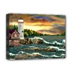 David s Lighthouse -AveHurley ArtRevu.com- Deluxe Canvas 16  x 12  (Stretched)
