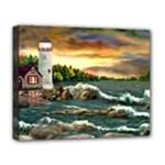 David s Lighthouse -AveHurley ArtRevu.com- Deluxe Canvas 20  x 16  (Stretched)
