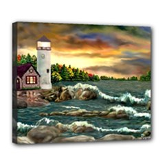 Davids Lighthouse By Ave Hurley   Deluxe Canvas 24  x 20  (Stretched)
