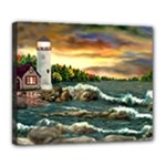 David s Lighthouse -AveHurley ArtRevu.com- Deluxe Canvas 24  x 20  (Stretched)