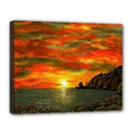 Alyssa s Sunset -Ave Hurley ArtRevu.com- Canvas 14  x 11  (Stretched)